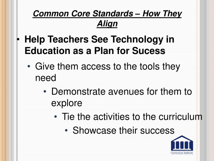 Common Core Standards – How They Align