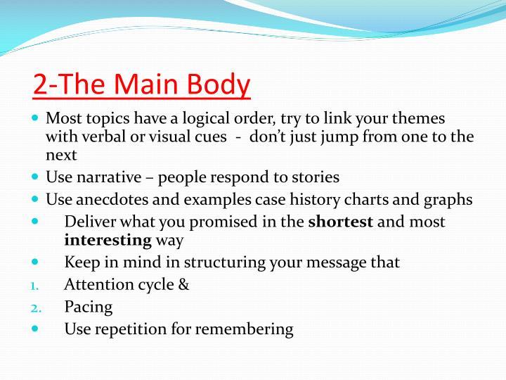 2-The Main Body