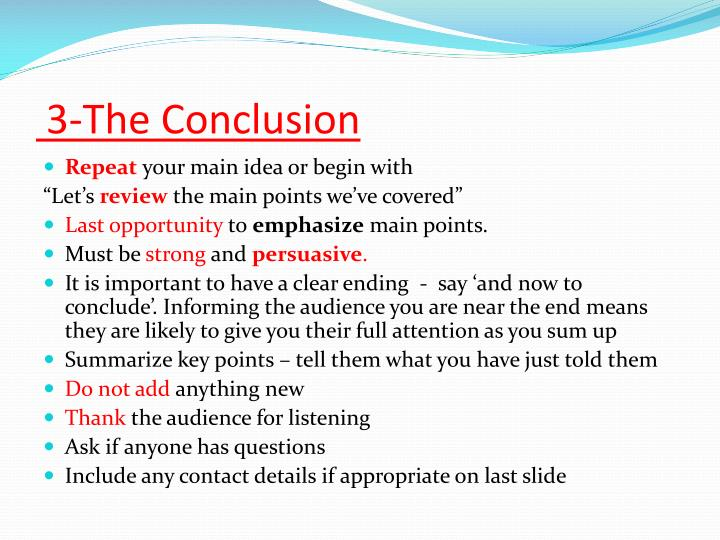 3-The Conclusion