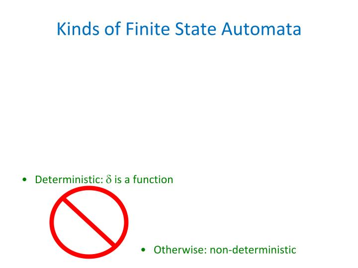 Kinds of Finite State Automata