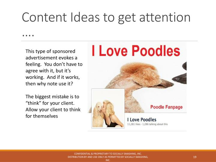Content Ideas to get attention ….
