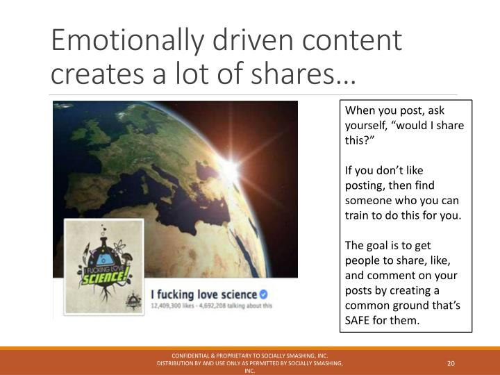 Emotionally driven content creates a lot of shares…