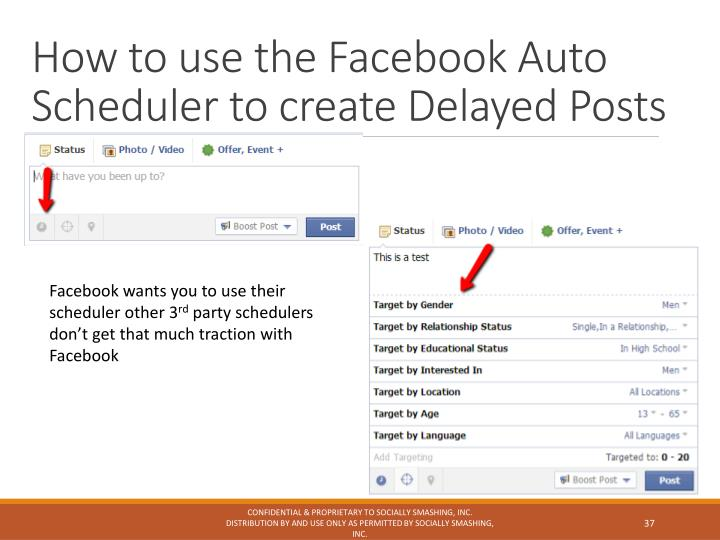 How to use the Facebook Auto Scheduler to create Delayed Posts
