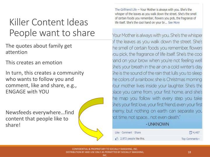 Killer Content Ideas