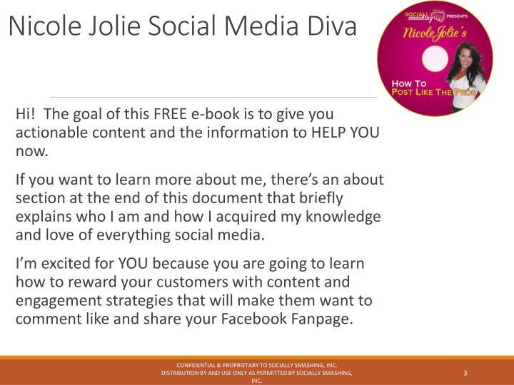 Nicole Jolie Social Media Diva