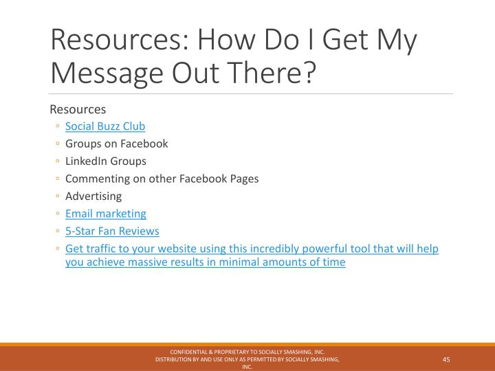 Resources: How Do I Get My Message Out There?
