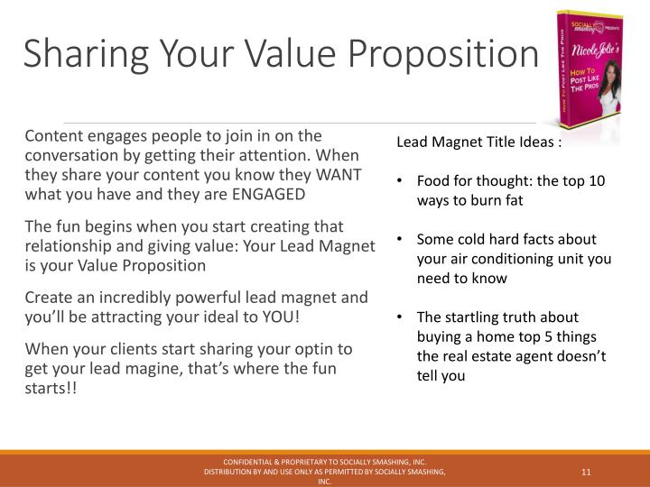 Sharing Your Value Proposition