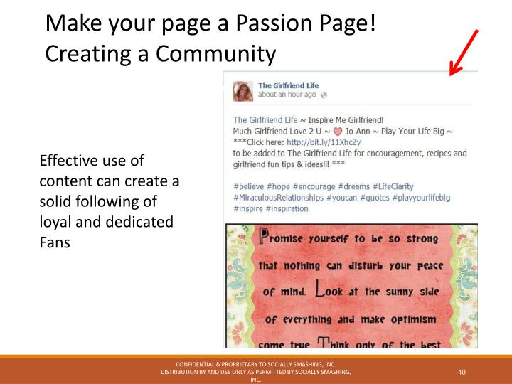 Make your page a Passion Page!