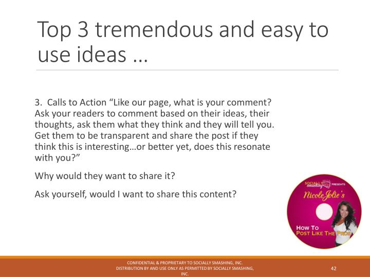 Top 3 tremendous and easy to use ideas …