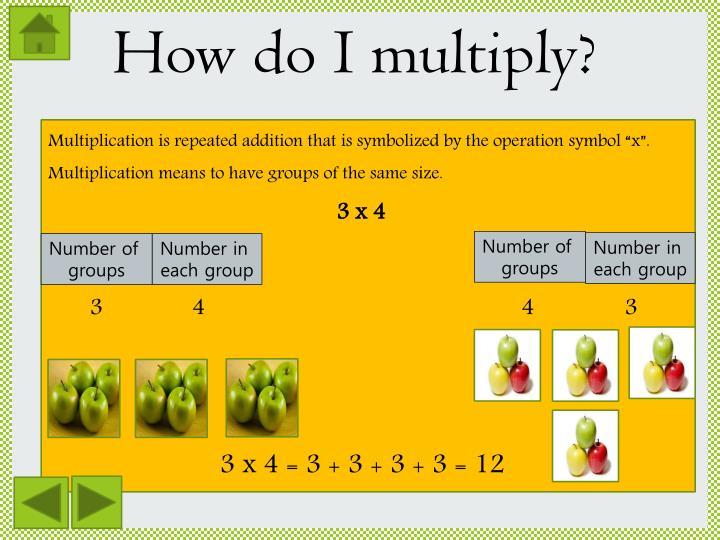 How do I multiply?