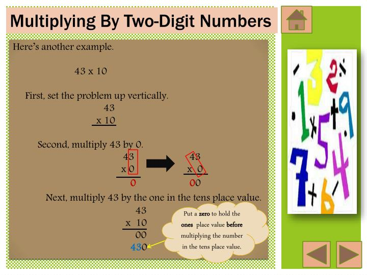 Multiplying By Two-Digit Numbers