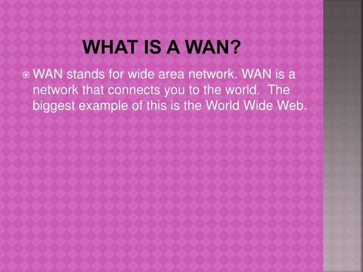 What is a WAN?