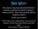 bell work7