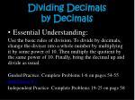 dividing decimals by decimals