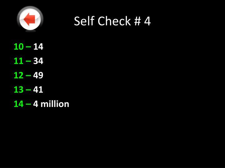 Self Check # 4