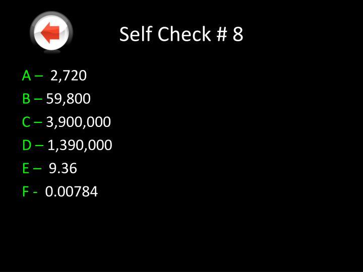 Self Check #