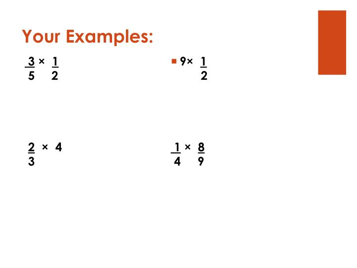 Your Examples: