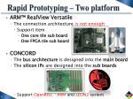 rapid prototyping two platform