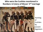 who were the cushites mentioned in numbers 12 story of moses 2 nd marriage to one