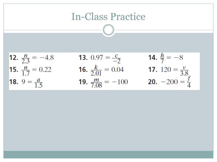 In-Class Practice