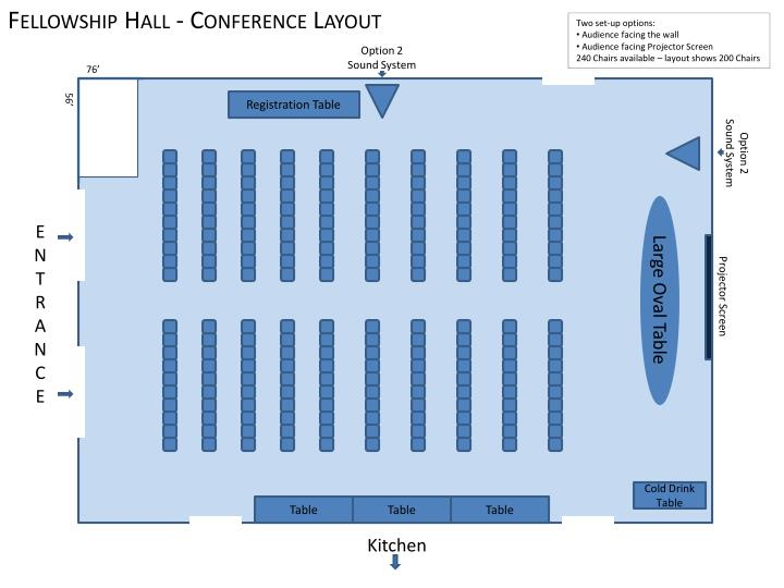 Fellowship Hall - Conference Layout