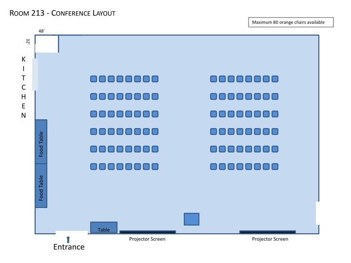 Room 213 - Conference Layout