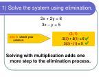 1 solve the system using elimination2