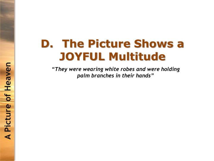 D.The Picture Shows a JOYFUL