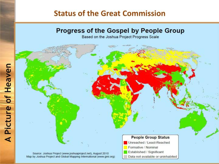Status of the Great Commission