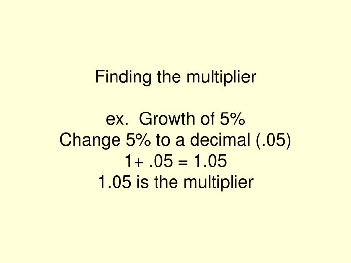 Finding the multiplier