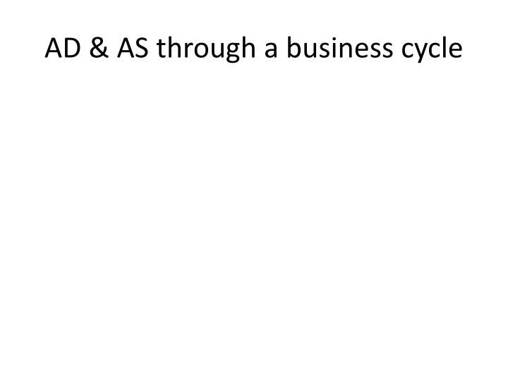 AD & AS through a business cycle