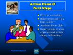 action items next steps