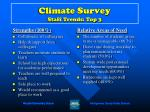 climate survey staff trends top 3