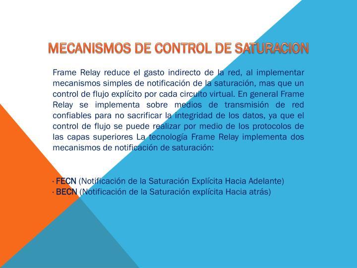 MECANISMOS DE CONTROL DE SATURACION