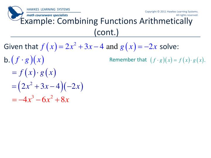 Example: Combining Functions Arithmetically (cont.)