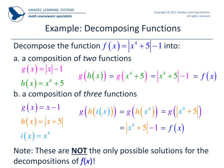 Example: Decomposing Functions