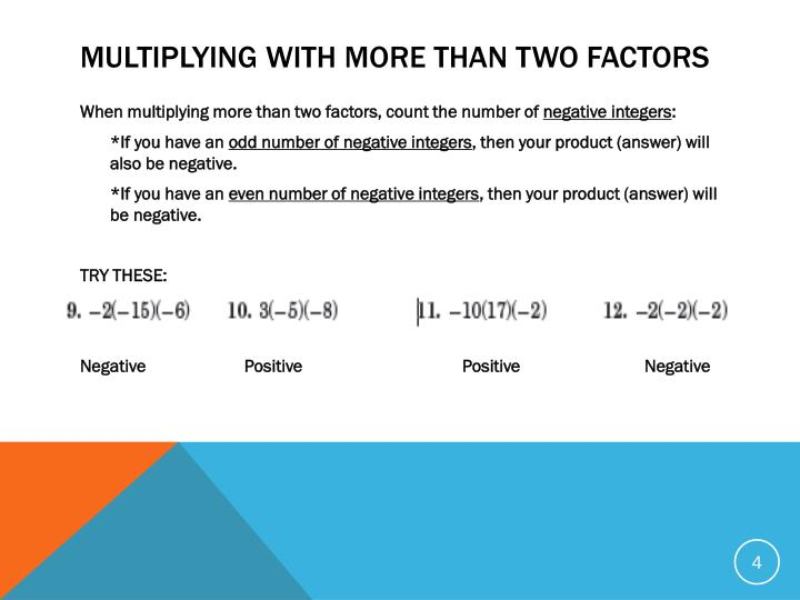 Multiplying with more than two factors