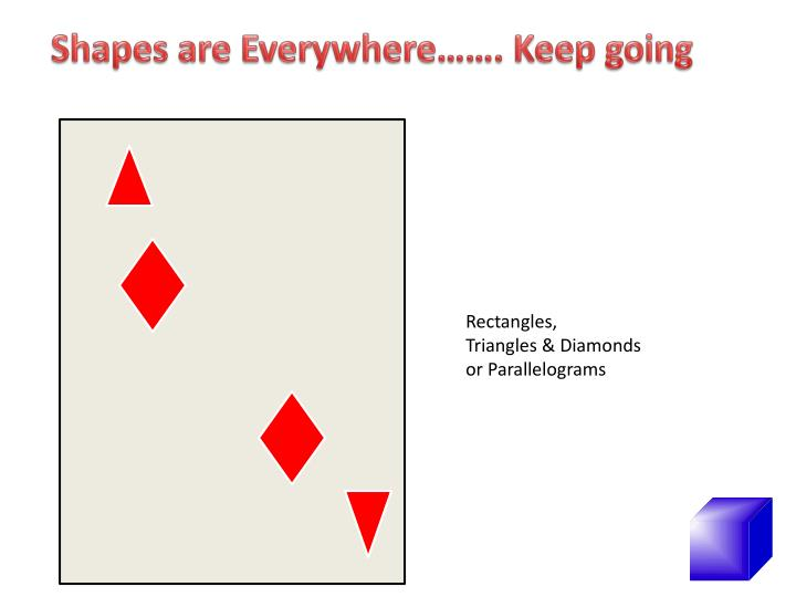 Shapes are Everywhere……. Keep going