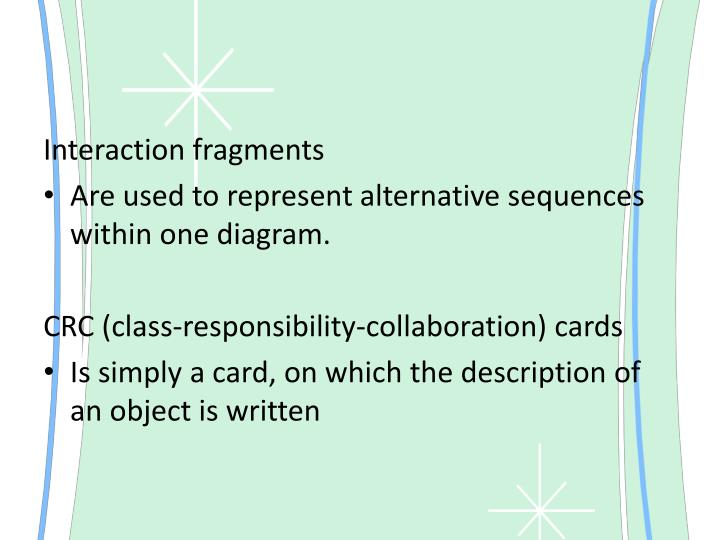Interaction fragments