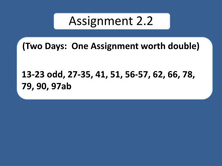 Assignment 2.2