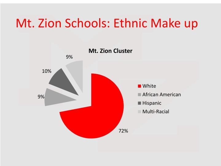 Mt. Zion Schools: Ethnic Make up