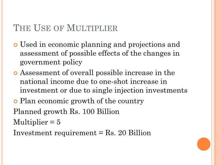 The Use of Multiplier