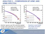 analysis 5 comparison of arm1 and arm2 spectra