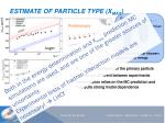 estimate of particle t ype x max