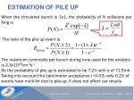 estimation of pile up