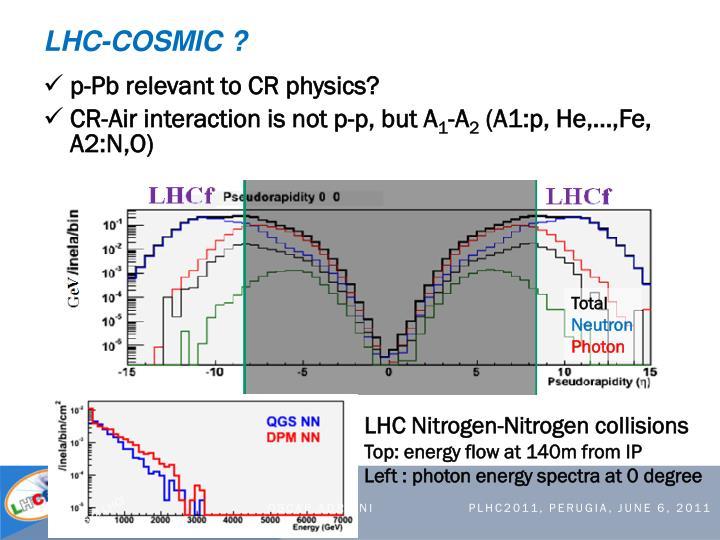 LHC-COSMIC ?