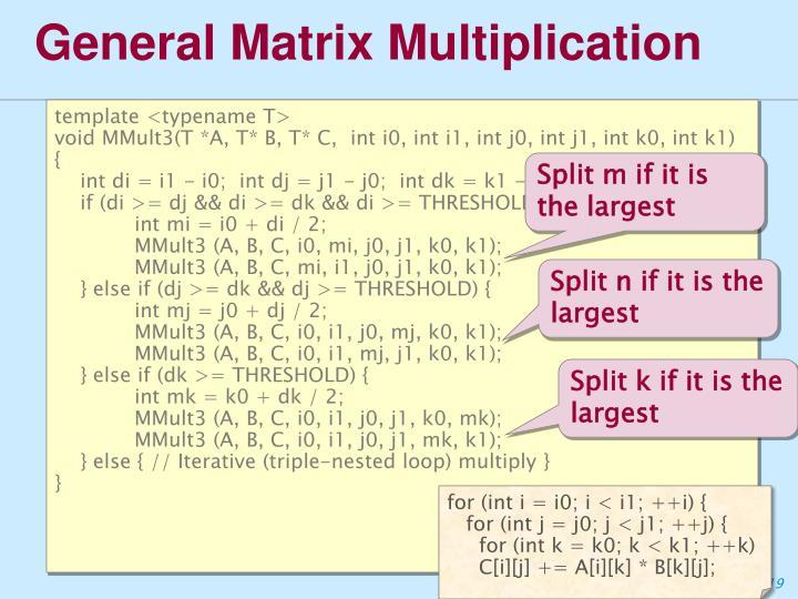 General Matrix Multiplication