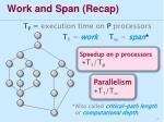 work and span recap