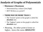 analysis of graphs of polynomials3