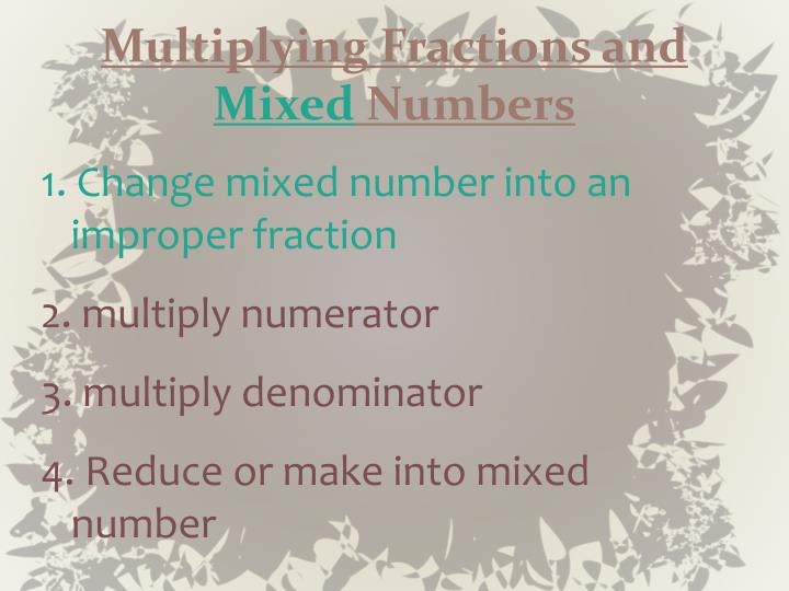Multiplying Fractions and